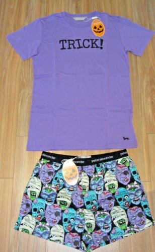 PETER ALEXANDER PJS Mens ZOMBIE SET Boxer Shorts /& T-shirt Top S//M//L//XL BNWT PJ
