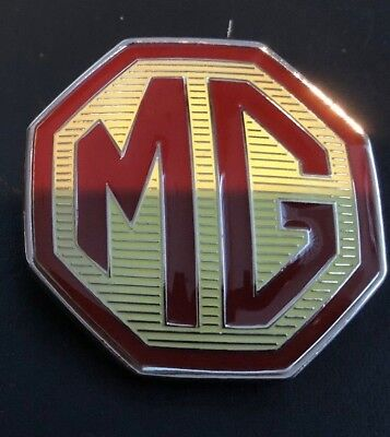 With 3m Backing Save 50-70% Diplomatic Mg Mgf Rear 58mm Grille Badge And Locating Lugs Automobilia