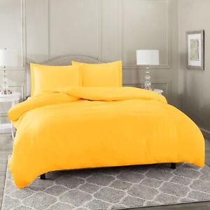 Duvet-Cover-Set-Soft-Brushed-Comforter-Cover-W-Pillow-Sham-Yellow-Full