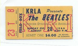 Beatles-Original-Ticket-Stub-1966-Dodgers-Stadium-Los-Angeles