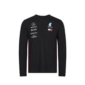 2019 Mercedes-amg F1 Officiel Homme T-shirt à Manches Longues Hamilton Tommy Hilfiger-afficher Le Titre D'origine Jouir D'Une Haute RéPutation Sur Le Marché International