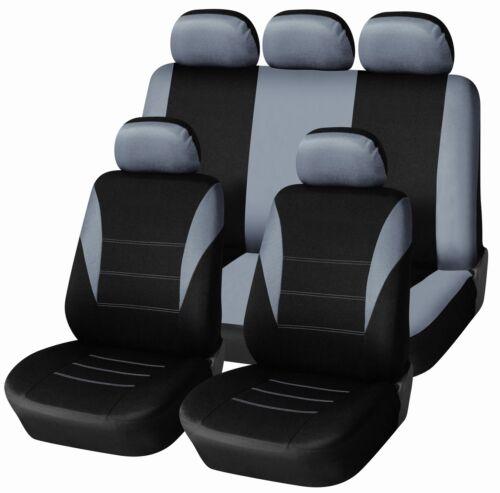 Neu Set Auto Sitzbezüge Schonbezüge Schonbezug  Grau Fussmatten für