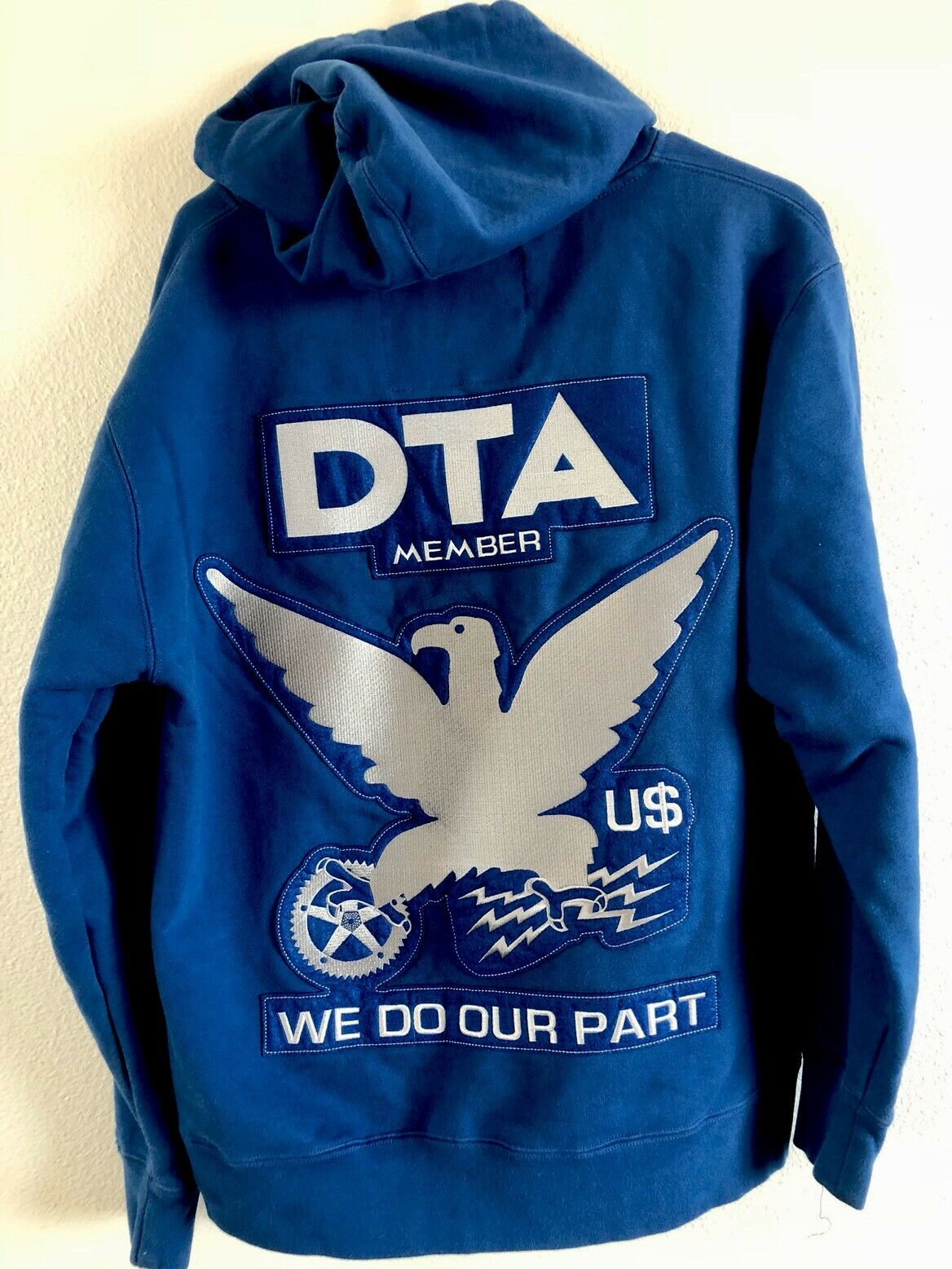 ORG.DON'T TRUST ANYONE DTA MEMBER WE DO OUR PART U Bald Eagle  Herren Zip Hoodie M