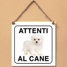 Maltipoo 2 Attenti al cane Targa cane cartello ceramic tiles