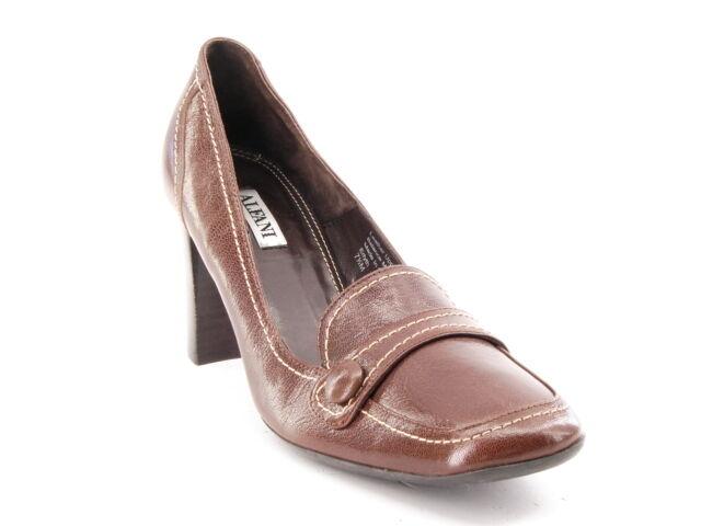 articoli promozionali New ALFANI donna donna donna Leather Marrone High Heel Pump Dress Loafer Comfort scarpe Sz 7.5 M  in vendita scontato del 70%