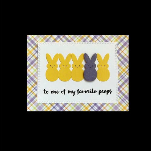 Easter Marshmallow Lil Bunny Peeps Metal Die Stencil Cottage Cutz Craft Dies