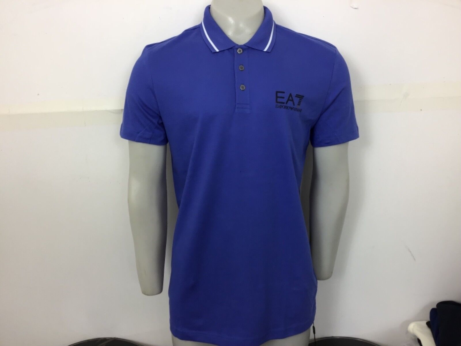 Emporio Armani EA7 Core ID Polo Shirt Royal bluee Small S 36 38 bnwt