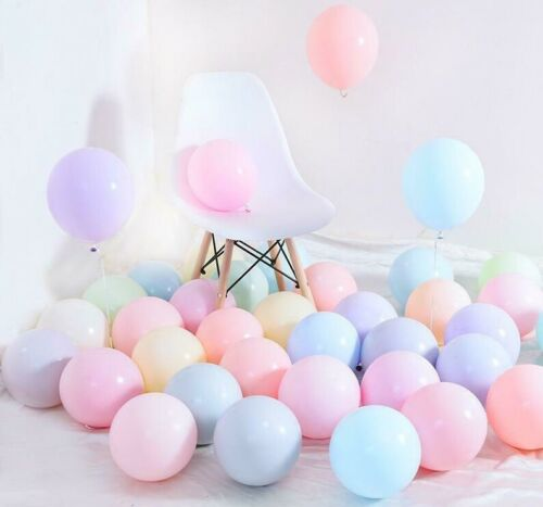 "10""25cm Macaron Mixed Pastel Color Balloons x 96 Helium Latex Birthday Weddings"