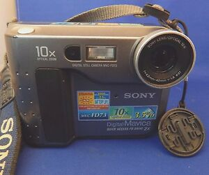 sony mavica digital still camera mvc fd73 10x optical zoom 3 5 disc rh ebay com sony mavica fd73 manual First Sony Mavica