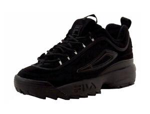 Détails sur FILA Disruptor II FB Triple en daim noir Chunky Fashion Lacets Sneaker Hommes Chaussures afficher le titre d'origine