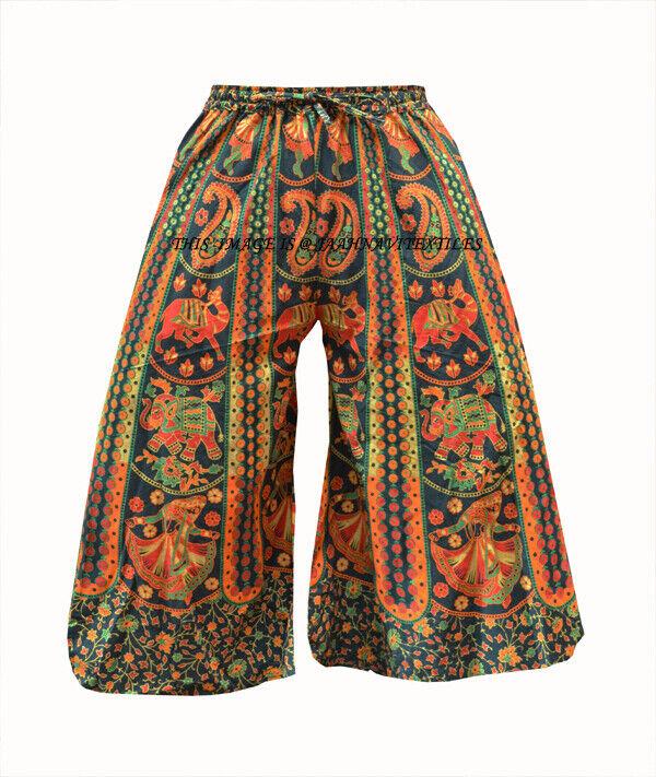 100% Baumwolle Indian Handmade Yoga Damen Herren Zigeuner Baggy Haremshose Boho