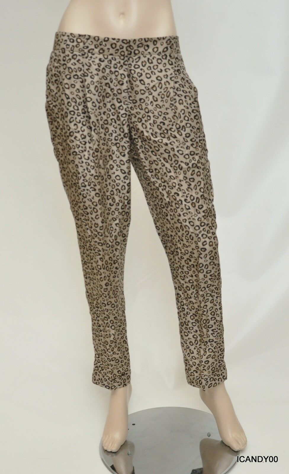 Nwt  Theory LATANI B Brasilia Animal Print Silk Pants Trousers Multi 6