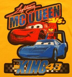 2T-Lightning-McQueen-vs-The-King-43-T-Shirt-Yellow-NWT