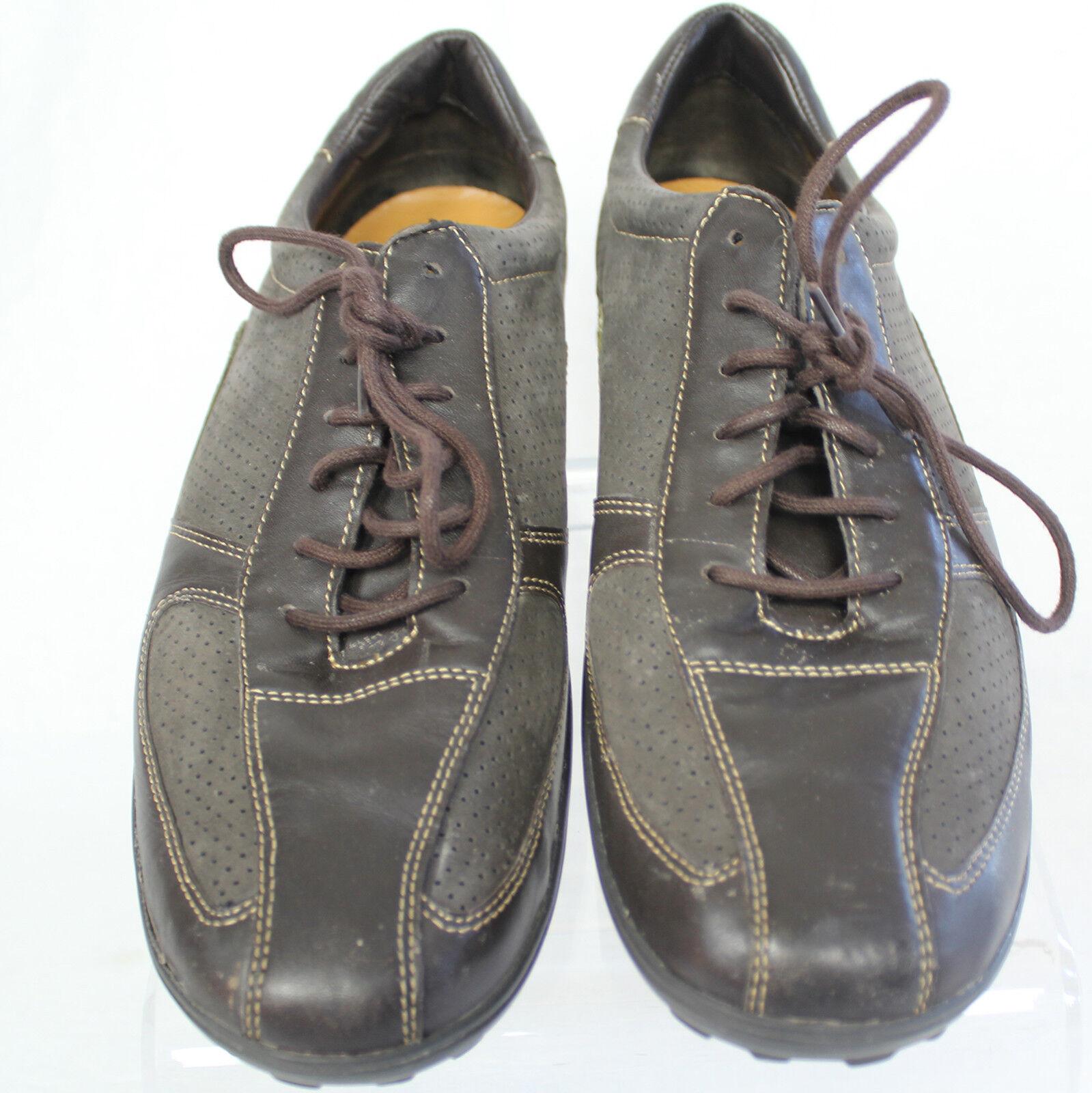 Cole Haan Brown Leather Fashion Sneaker Lace Up shoes Men Sz 11 1 2 11.5 D M EUC