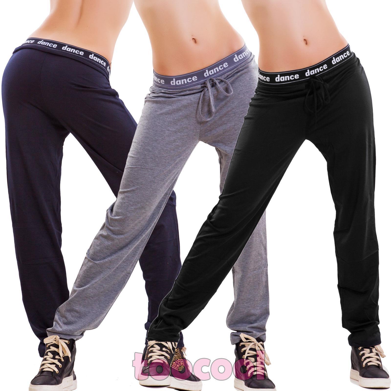 Pantalones de women chándal danza fitness deportivos tiro caído hip hop K-51