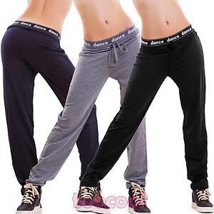 e3b1f1c733d07 La imagen se está cargando Pantalones-de-mujer -chandal-danza-fitness-deportivos-tiro-