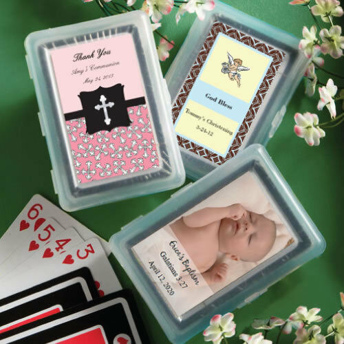 40-100 Personalized Playing Cards - Baby Shower Baptism Party Favors