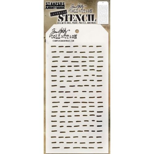 DASHES Design Layering Stencil Stampers Anonymous Tim Holtz Collection THS101