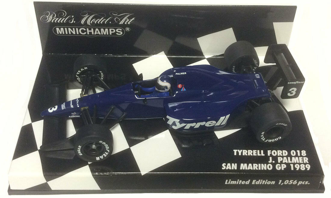 Minichamps Tyrrell Ford 018 San marino gp 1989-Jonathan Palmer, échelle 1 43,