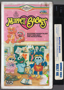 Vhs-video-tape-MUPPET-BABIES-1984-Vintage