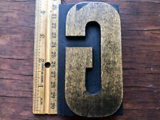Antique Letterpress Printers Wood Type Letter Font G With Beautiful Patina