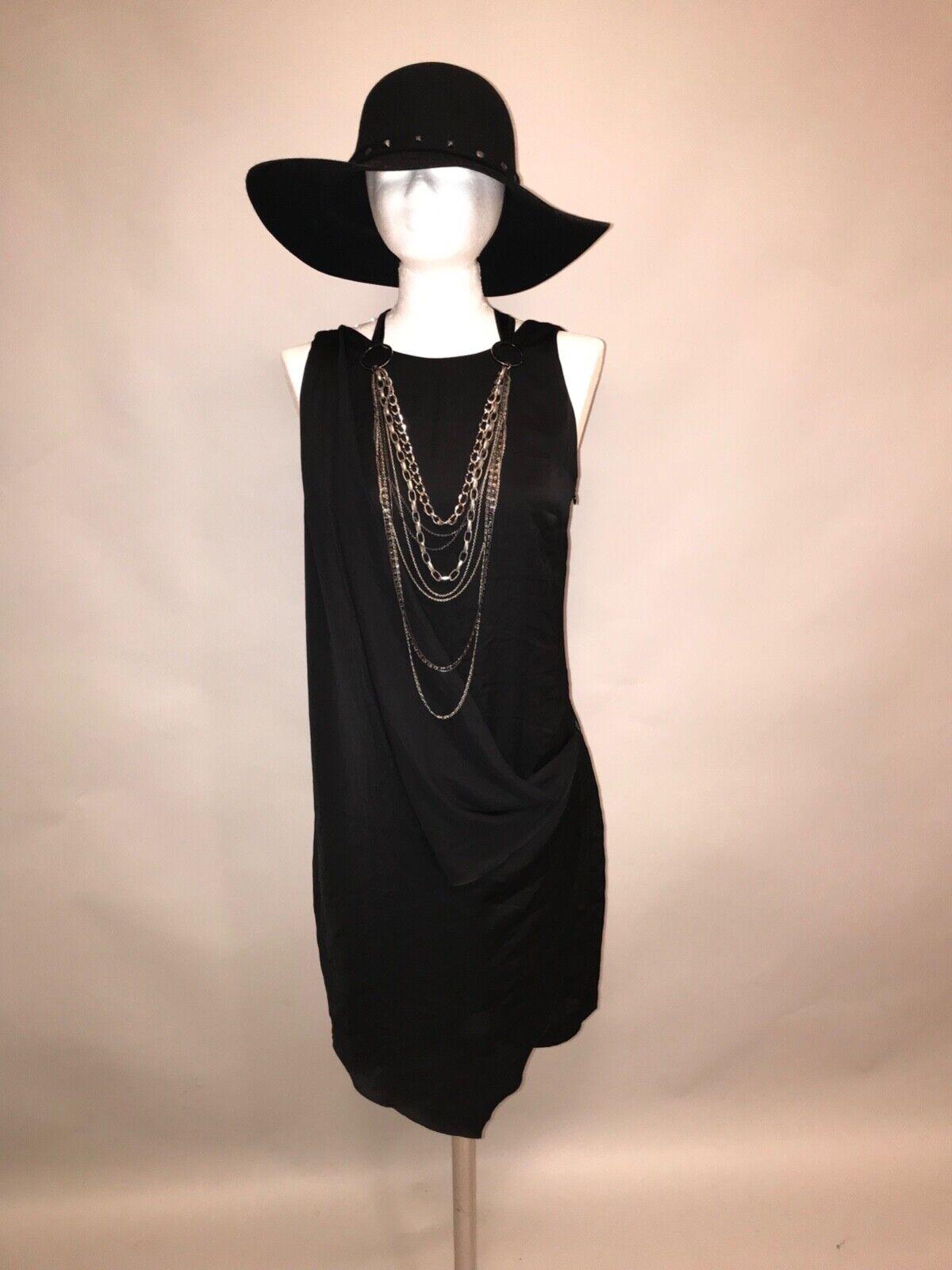 ANA ALCAZAR leichtes Kleid Gr. 36 schwarz, wie NEU, ungetragen, Stiefelkleid