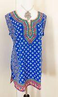 Indian Designer Crepe Bollywood Kurti Ethnic Top Kurtis Tunics For Women