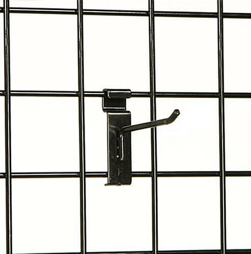 "4/"" Wire Slat Grid Hooks Pegs Gridwall 50 Black 6mm Tubing Retail Display 3/"" OC"