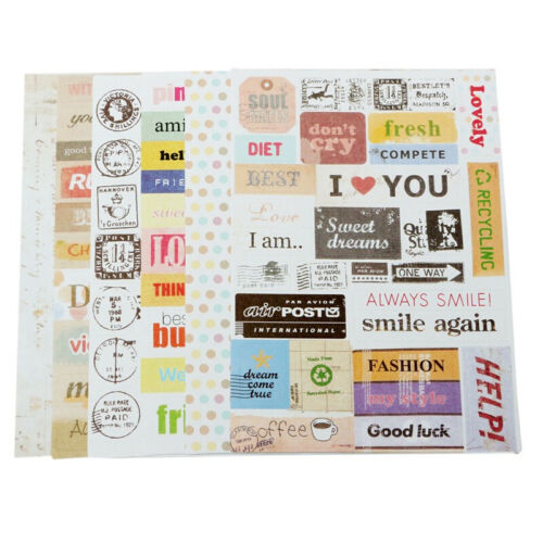 6x Retro DIY Calendar Paper Stickers  for Scrapbooking Diary Planner Sticky ha
