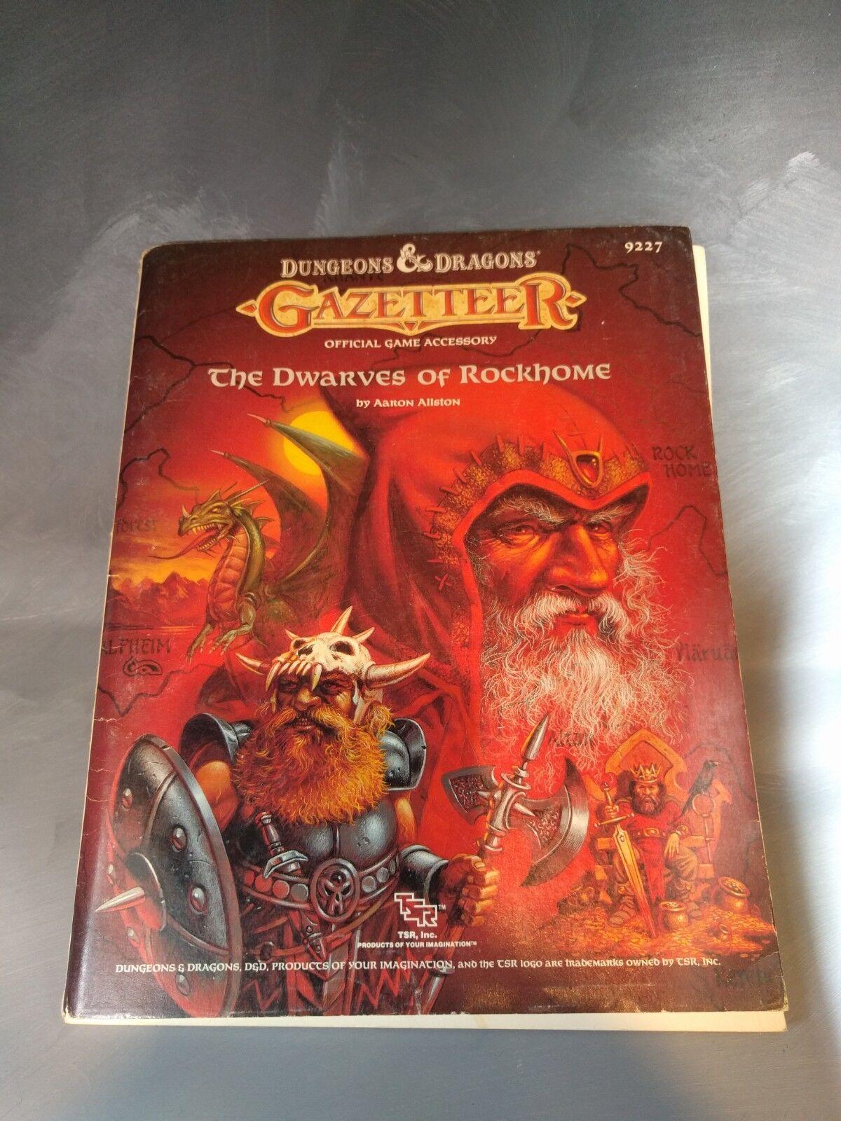 venta D&D Gazetteer The Dwarves Dwarves Dwarves of Rockhome TSR item 9227  ventas en línea de venta