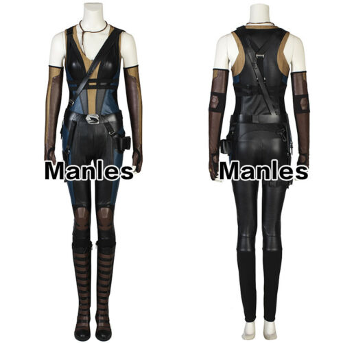 Neena Halloween 2 Deadpool Domino Thurman Dress Fancy Cosplay Costume donna 55Rw0xq