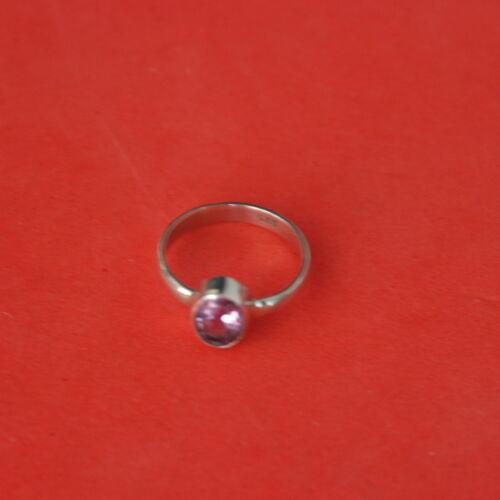 925 Anello Argento con Ametista 1.4 Gr.size L N1 \ 2 P o Q1 \ 2 in