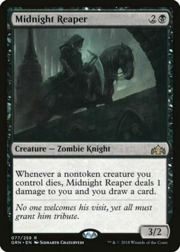 NM Zombie 1x MIDKNIGHT REAPER Magic the Gathering Guilds of Ravnica MTG