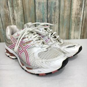 outlet store first look thoughts on Details about Asics Gel Kayano 16 Womens 8 Pink White Lace Up Athletic  Running Shoes