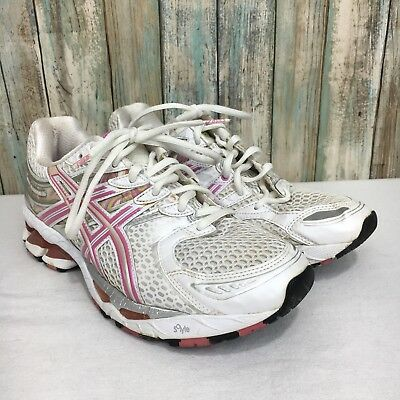 Asics Gel Kayano 16 Womens 8 Pink White Lace Up Athletic Running Shoes | eBay