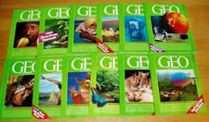 GEO-Zeitschrift-1990-komplett-neue-Bild-der-Erde-Jahrgang-12-Hefte-Sammlung