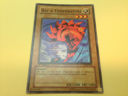 YuGiOh Legend of Blue-Eyes White Dragon LOB nrMint//Used Original 1st Edition