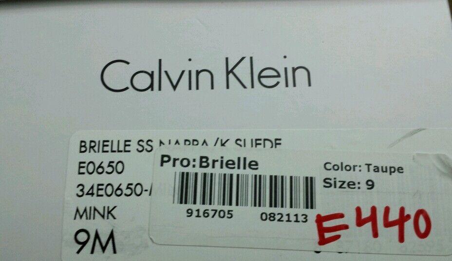 Calvin Klein Brielle flats SS Nappa/K Suede Taupe MINK Damenss flats Brielle 9M NEW 7edfa9
