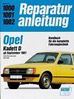 Opel Kadett D ab September 1981 (2012, Kunststoffeinband)