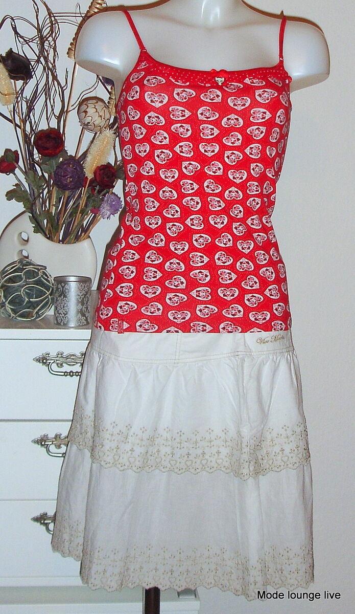 Vive Maria Gonna Summer Love Skirt S 36 bianca BIANCO COTONE COTTON RICAMO