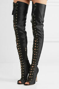 Sergio Rossi Suede Over-the-Knee Boots Gr. IT 38.5 vnBLqtwnwb