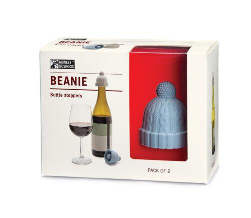 Monkey Business Beanie Flaschenverschluss 2-er Set blau /& grau