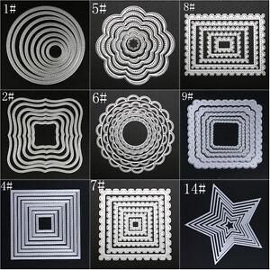 8PCS Metal Cutting Dies Stencil For DIY Scrapbooking Embossing Paper Card Decor