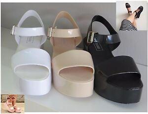 00d33e180287 Image is loading MAUI-Jelly-Wedge-Women-shoes-Jelly-Flat-Sandal-