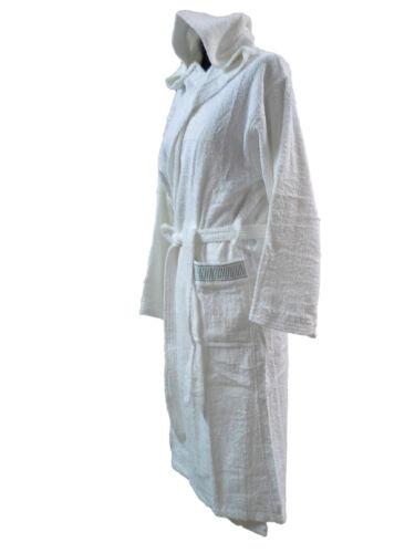Bademantel Schwamm mit Haube Jolly weiß CALEFFI 100/% Baumwolle Unisex