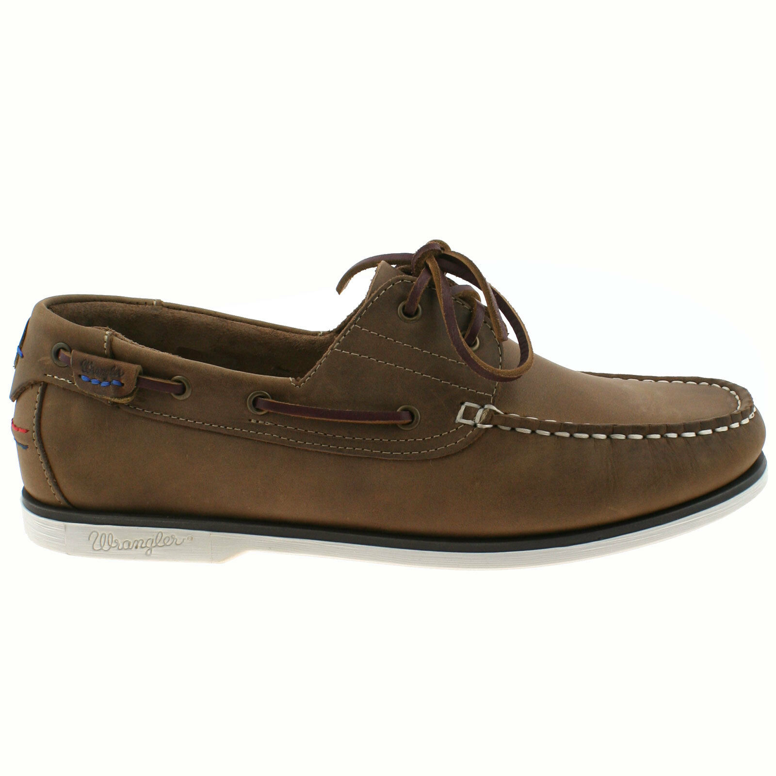 Herren WRANGLER CRAZY HORSE BROWN OCEAN LEATHER LACE LACE LEATHER UP BOAT DECK Schuhe WM181120 20c3e3