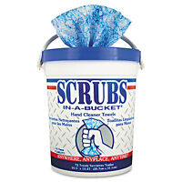 Scrubs Hand Cleaner Towels 10 X 12 Blue/white 72/bucket 6 Buckets/carton 42272ct on sale