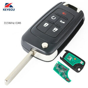 Replacement Remote Key Fob 5 Button for Buick Lacrosse Encore Regal 2011-2016
