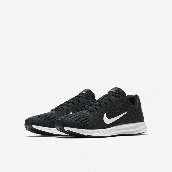 Nike Downshifter 8 gedämpfte Herren Laufschuhe Runningschuhe Schwarz/Weiß Neu