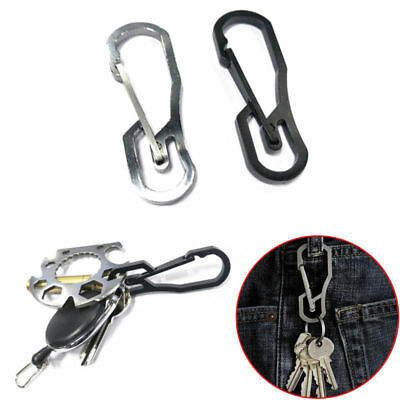 10pcs Alloy Hanging Snap Hook Keychain Buckle Carabiners Camping Hiking Tool